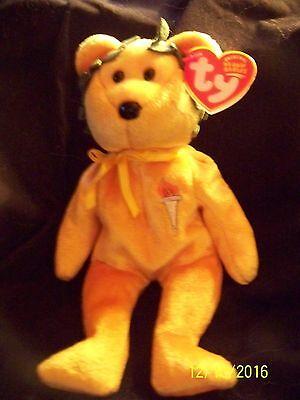 - MWMTs TY Beanie Baby Internet Exclusive LIBERT-e the Bear 9 inch