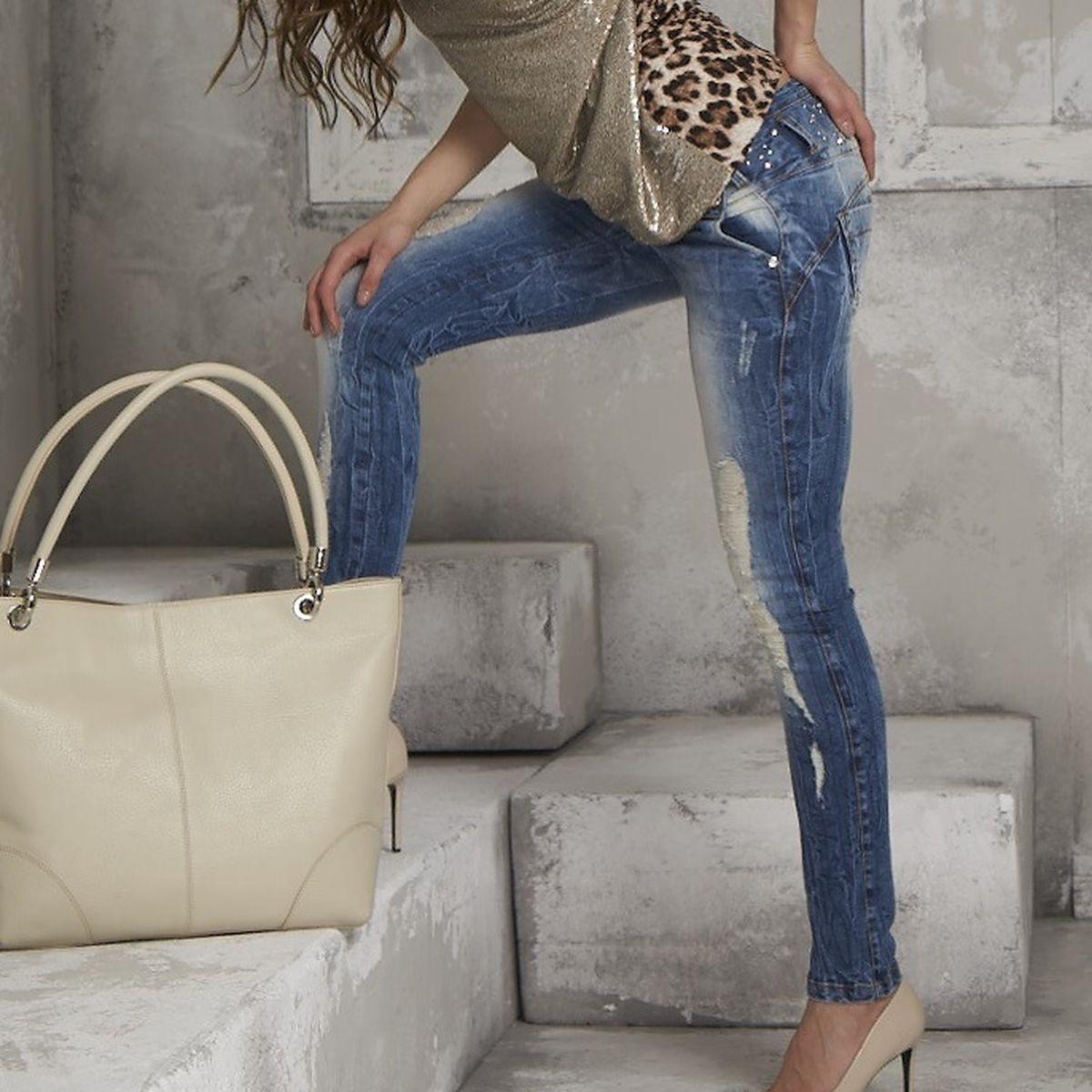 BY ALINA  Damenjeans Jeans Hose Damenhose Sexy Hüftjeans Hüfthose  34 - 38  B56