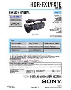Sony hdr-fx1, hdr-fx1e, q002-hdr1 (serv. Man7) service manual.