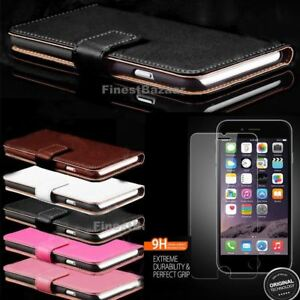 Genuine-Leather-Magnetic-Flip-Wallet-Case-Cover-For-Apple-iPhone-8-7-Plus-6S-5S