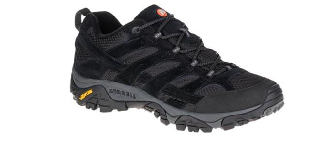 Merrell Moab 2 Ventilator Black Night Hiking shoes Men's sizes 7-15 NEW