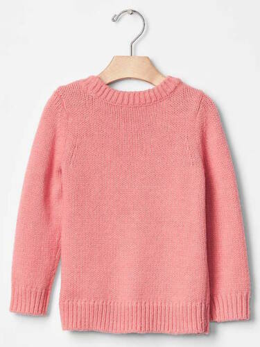 2 YEARS Details about  /NWT BABY GAP GIRL/'S PINK HEART INTARSIA REINDEER SWEATER