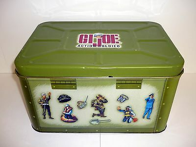 GI JOE ACTION SOLDIER COLLECTORS TIN Footlocker Metal Storage COMPLETE 1998