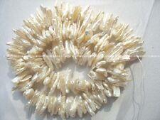 "freshwater pearl white reborn keshi beads 15"" nature"
