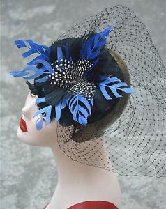 Women Sinamay Fascinator Cocktail Hat Wedding Church Kentucky Derby K367
