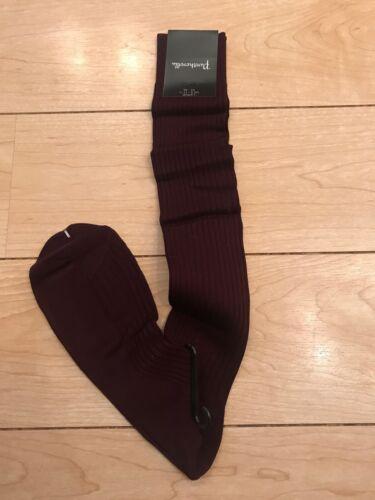 Nouveau pantherella 100/% Coton Chaussettes Montantes Hommes-Grandes 43-46 1 paire. Bordeaux