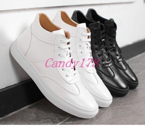 Casual High da Uomo Sport Sneaker Scarpe Up Moda Lace ginnastica Top stivaletti aXqwWE