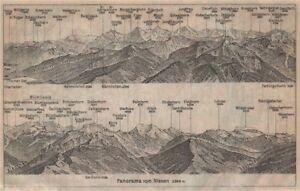Europe Maps Frugal Panorama From/von Niesen 2366m Blumisalp Jungfrau Switzerland Schweiz 1920 Map 2019 Official