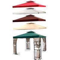 10'x10' 12'x12' Replacement Canopy Top Garden Gazebo Cover Beige Green Brown