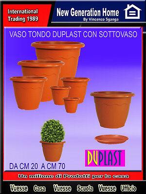 Vaso plastica vulcano duplast piante fiori esterno giardino terrazzo