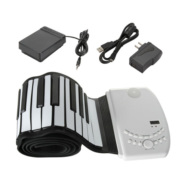 Portable 88 keys Flexible Roll up Piano Foldable Keyboard Hand Rolling 110V