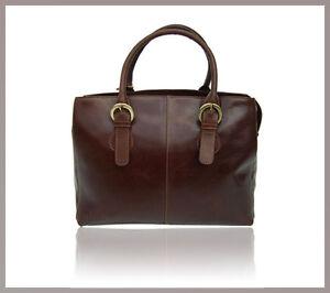 Handbag bandoulière cuir Brown en Sac Evening New A4 à Vintage Woman 5CcRWqfnSg