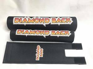 Old School BMX DIAMOND BACK Pad Re Made Sets frame handlebar stem black
