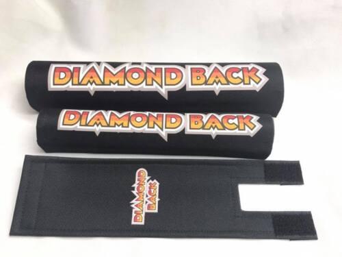 DIAMONDBACK Pad Set frame handlebars bar Stem bmx Re Made Black Silver Streak