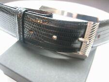 "STERLING SILVER 925 BUCKLE WITH GENUINE CALF SKIN 1.5/"" BELT MADE IN U.S.A."