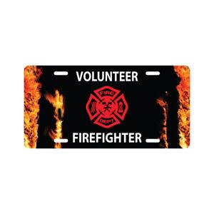 Volunteer Firefighter License Plate Fire Department