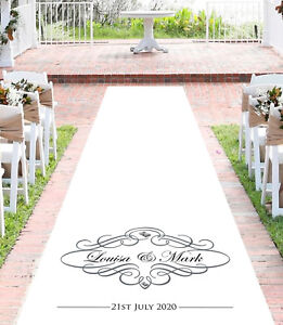 Details about Personalised WEDDING AISLE RUNNER. Church Wedding Carpet  Decoration.10 metre
