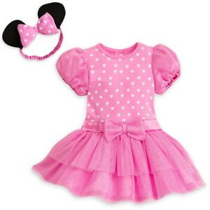902a8db1c Image is loading Disney-Minnie-Mouse-Pink-Baby-Bodysuit-amp-Headband-