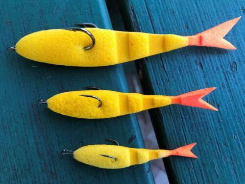 "Handmade Fishing foam soft lures /"" Пoрoлонка/"" with high quality doubles  hooks"