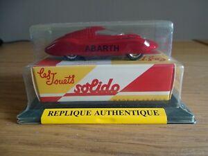1:64 Solido 1109 Fiat Abarth Rekordauto 1961 Streamline Stromlinie Avec Boîte