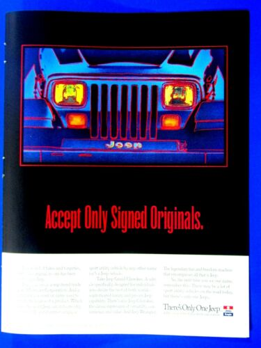 """1994 Jeep Wrangler This Theme Park Only Has One Ride Original Print Ad 8.5 x 11/"""""""