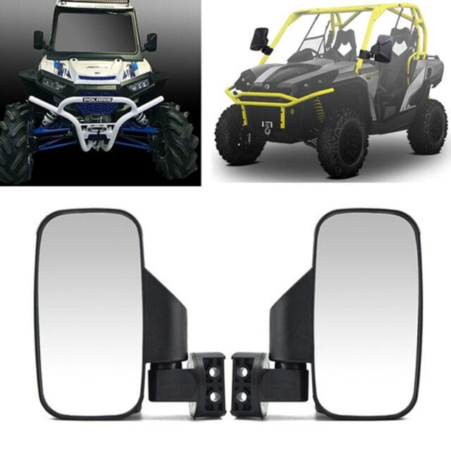 "2X Rear View Mirror Side Mirrors 1.75"" 2"" Roll Bar For  Polaris RZR UTV and  ou"