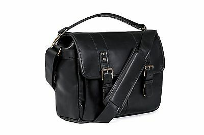 ONA Prince Street Black Leather Camera Messenger Timeless Handcrafted Quality