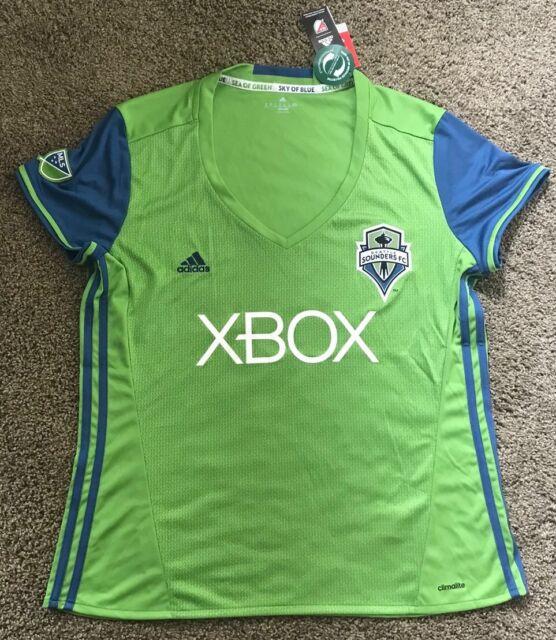 053d1269e53 Seattle Sounders FC Adidas MLS Soccer Lime Green Women s Jersey Sz 2XL New