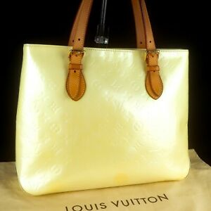LOUIS-VUITTON-BRENTWOOD-Tote-Shoulder-Bag-Purse-Monogram-Vernis-Leather-M91512