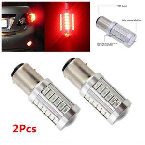 2X-12V-1157-BAY15D-5630-Car-Tail-Stop-Brake-Light-33-SMD-LED-Bulb-Reverse-Light