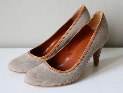 MCS Damen Pumps High Heels Absatz Schuhe Denim beige/ taupe braun Gr. 37