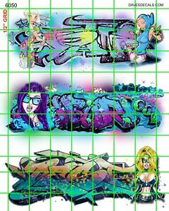 6050-DAVE-039-S-DECALS-BOXCAR-WOMEN-GIRLS-WALL-STREET-GRAFFITI-HO-SCALE-1-87