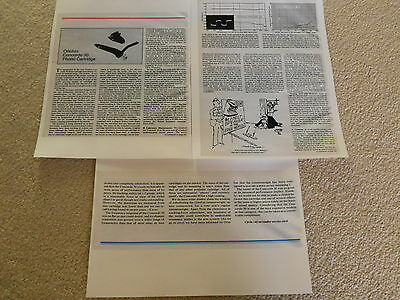 Ortofon X3-MC Cartridge Review Full Test 2 pages 1987 Specs
