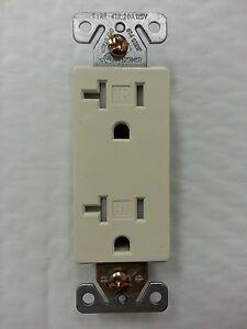 100 pcs 15A WHITE Decorator Duplex Receptacles 15 Amp Tamper Resistant Decora TR