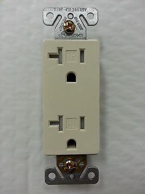 100 pc 20A Decorator Duplex Receptacles 20 Amp Tamper Resistant IVORY Decora TR