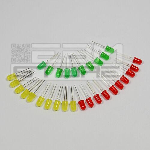 gialli verdi ART AE13 30 pz Led 5 mm standard- rossi
