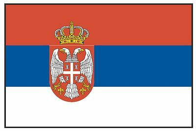 SERBIA & MONTENEGRO Vinyl International Flag DECAL Sticker MADE IN THE USA F452