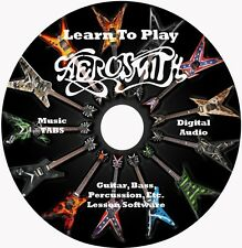 Aerosmith Guitar Tab Lesson CD for Windows,Linux,MAC 96 songs!