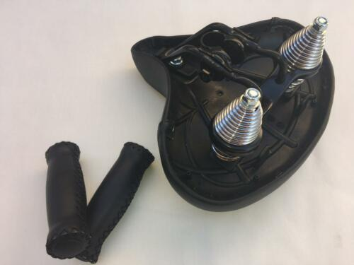 Grips Handlebar Comfort Beach Cruiser Bike Diamond Saddle Seat *BLACK w//Springs