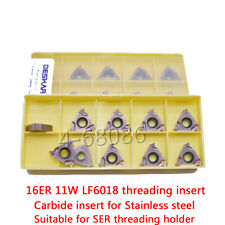 10pcs 16ERM3.0ISO LF6018 16ER 3.0ISO Threaded alloy blade carbide inserts