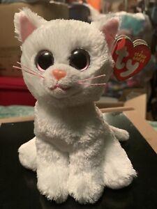 """Ty BIANCA -White/Pink Persian Cat 6"""" 2014 Beanie Baby! *Retired* RARE & VHTF!"""