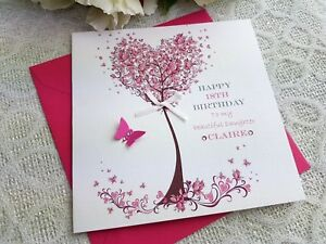 Image Is Loading Handmade Personalised Birthday Card Mum Mother Grand Daughter