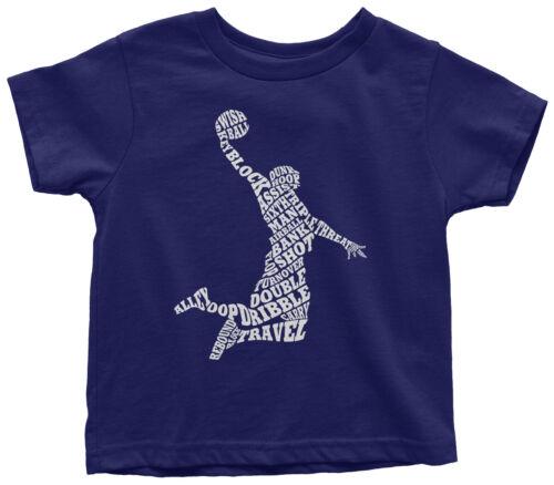 Boys Basketball Player Typography Toddler T-Shirt Team Gift Idea
