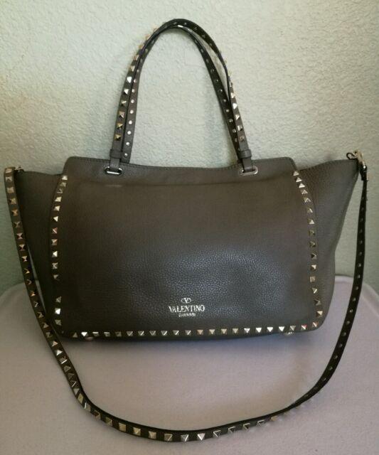 a807586ef2e valentino Rockstud Medium Leather Tote Green for sale online | eBay