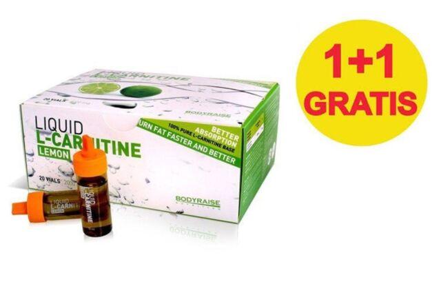 CARNITINA LIQUIDA Bodyraise Liquid L-Carnitine 40 fiale gusto limone 1+1 GRATIS