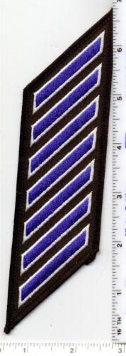 Police Dept 35-39 Years//Service Hash Mark Longevity 7-Stripe Blue Patch