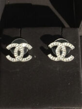 Item 2 Preowned Authentic Chanel Crystal Cc Studs Earrings