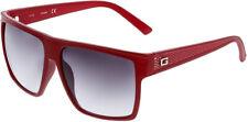 Guess Men's Sunglasses, Matte Red Frame, Gradient Smoke Lens GF0158