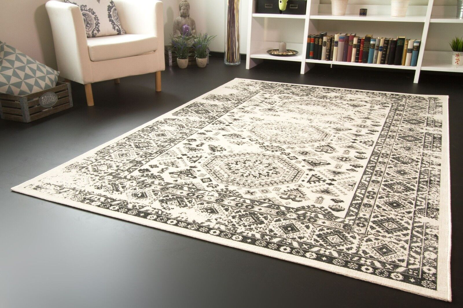 Designer Designer Designer Teppich Modern Karthago Medaillon Antikes Muster b2923c
