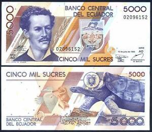 Ecuador 5000 Sucres 12.07. 1999 Unc P 128 C (4) 8r9owyh4-07221038-628062792